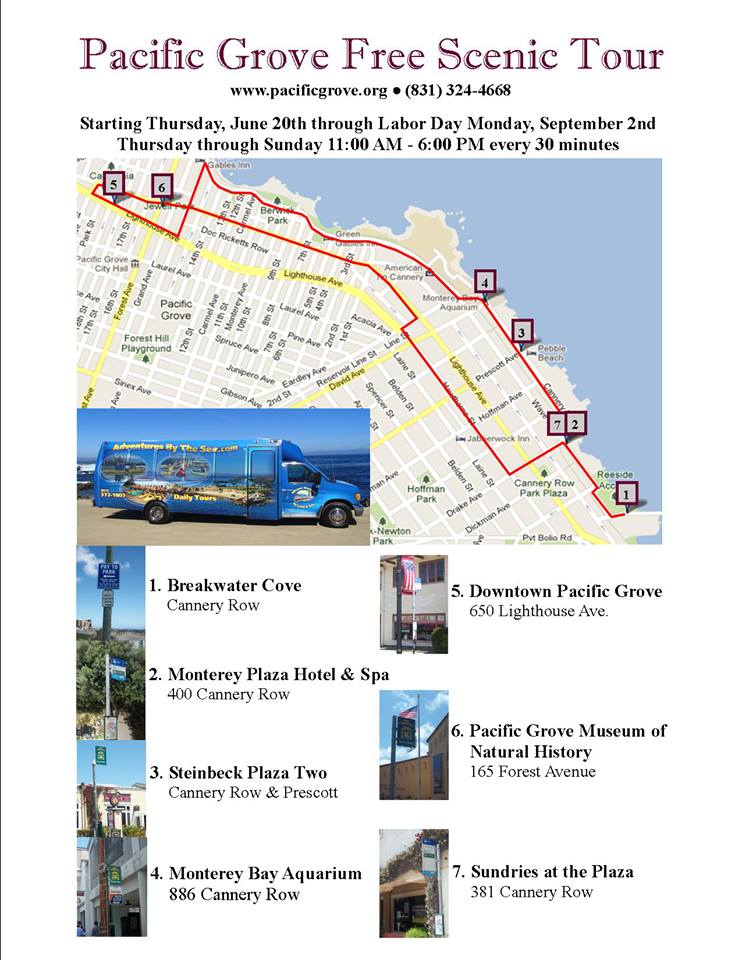 Free Scenic Tours of Pacific Grove