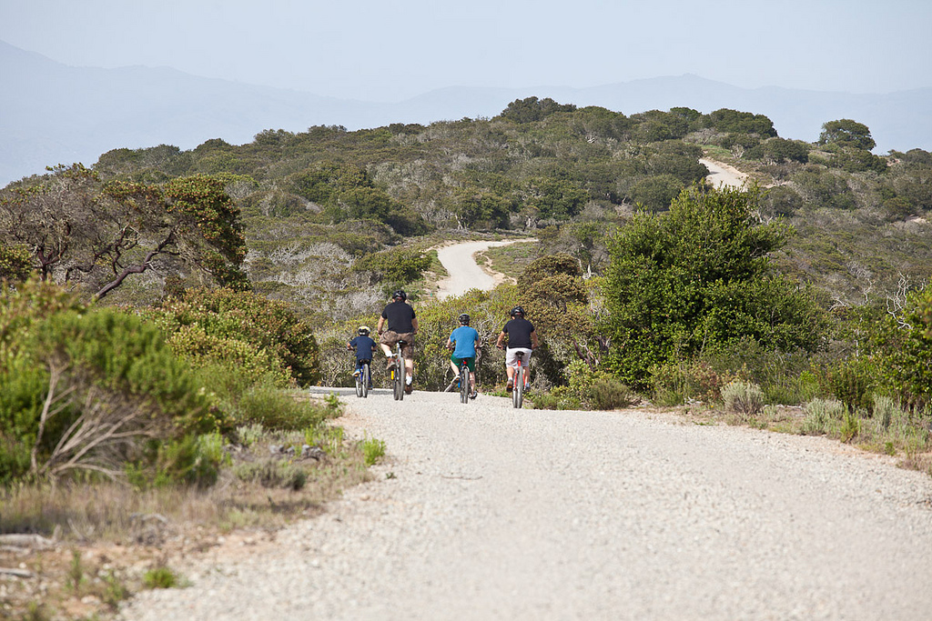 Bicyclists at Fort Ord National Monument