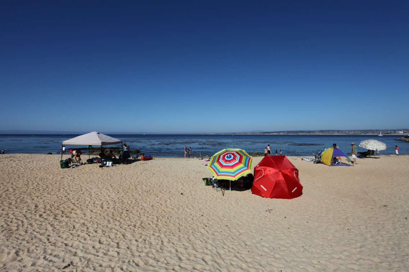 Beachgoers at San Carlos Beach in Monterey, CA. Photo credit: Chad King / NOAA MBNMS