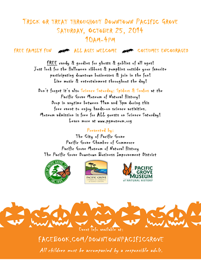 Trick-Or-Treating in Downtown Pacific Grove