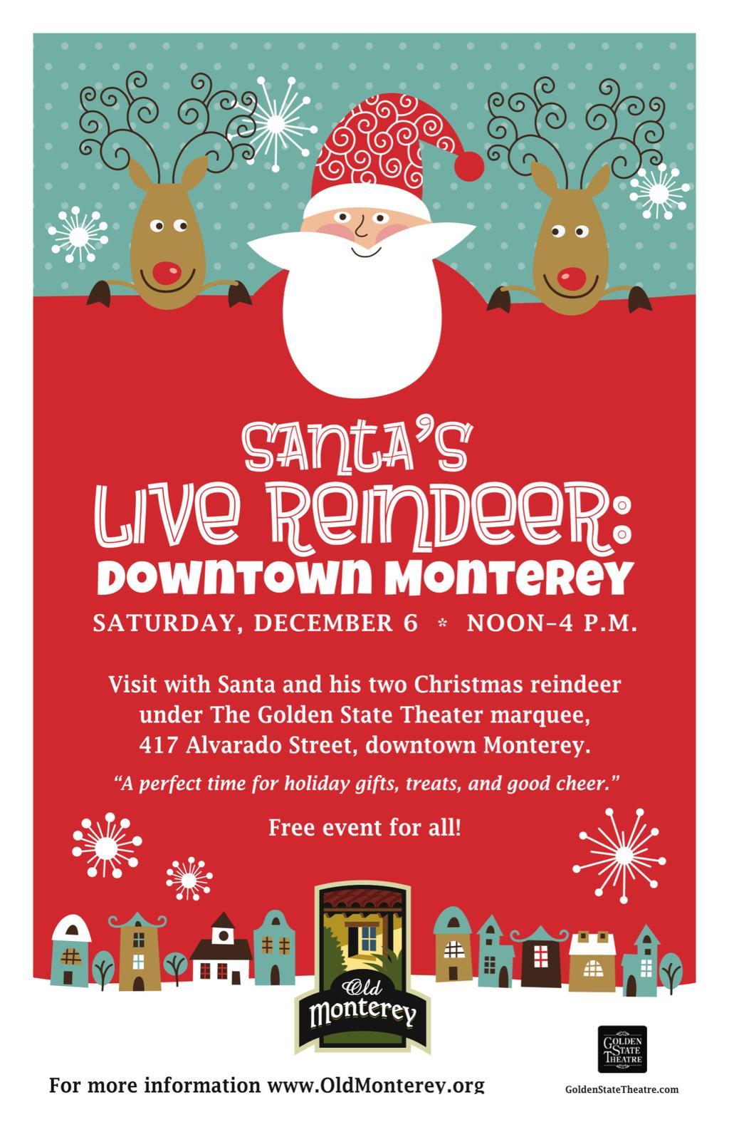 Santa & Reindeers in Monterey