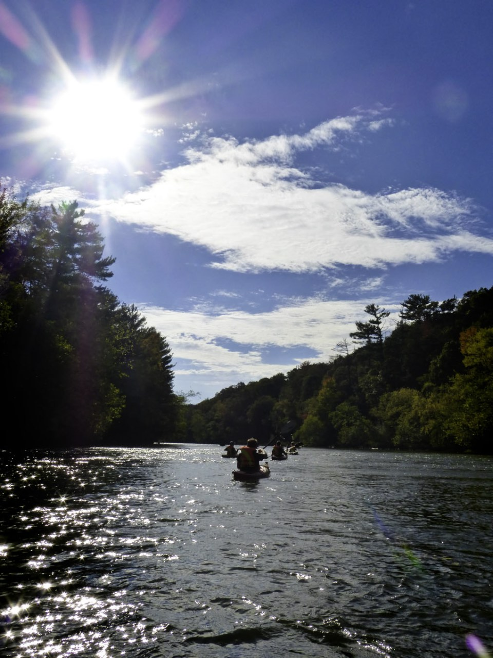 Kayaking Down the Eau Claire River - By: Kaitlyn Bryan/Volume One