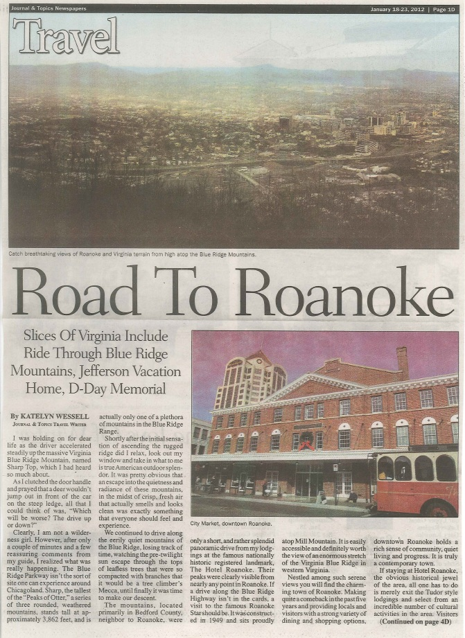 Road to Roanoke Page 1