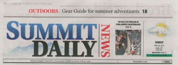 Summit Daily News Header