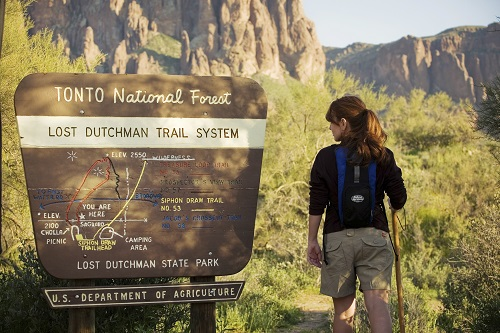 Hiking at Lost Dutchman