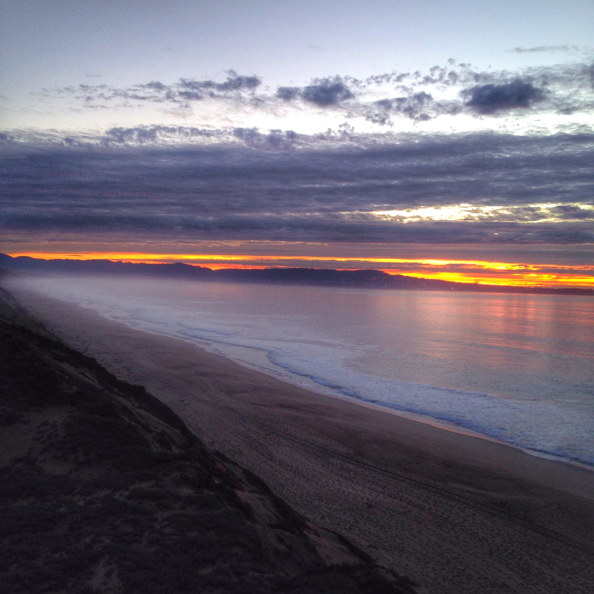 Fort Ord Dunes State Park at Sunset