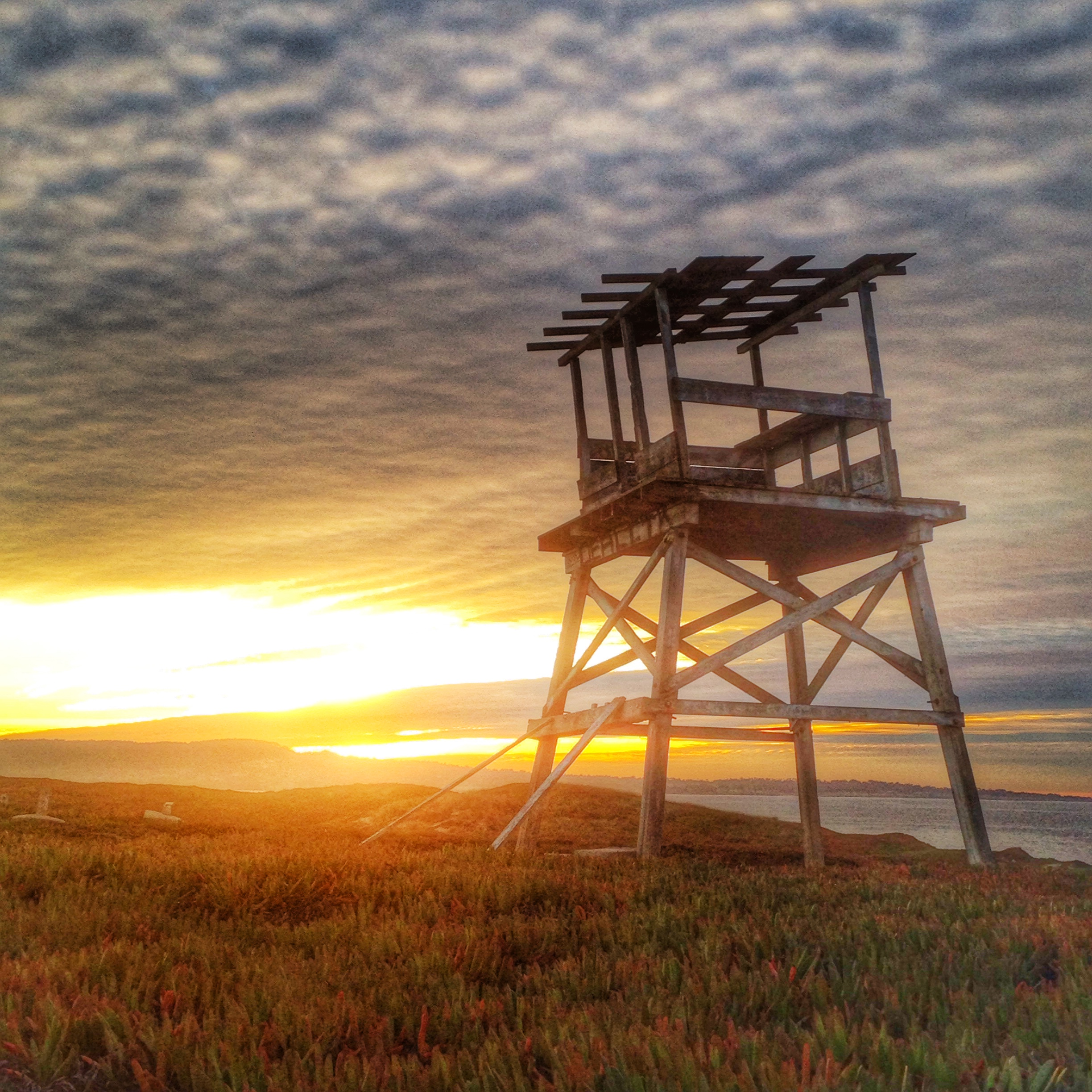 Fort Ord Watchtower Overlooks Monterey Bay