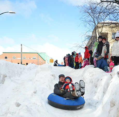 Sledding Hill in downtown Traverse City