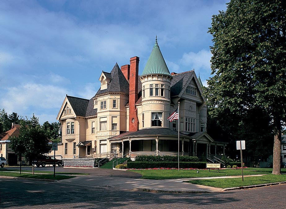 The ornate home of Traverse City's founder, Perry Hannah