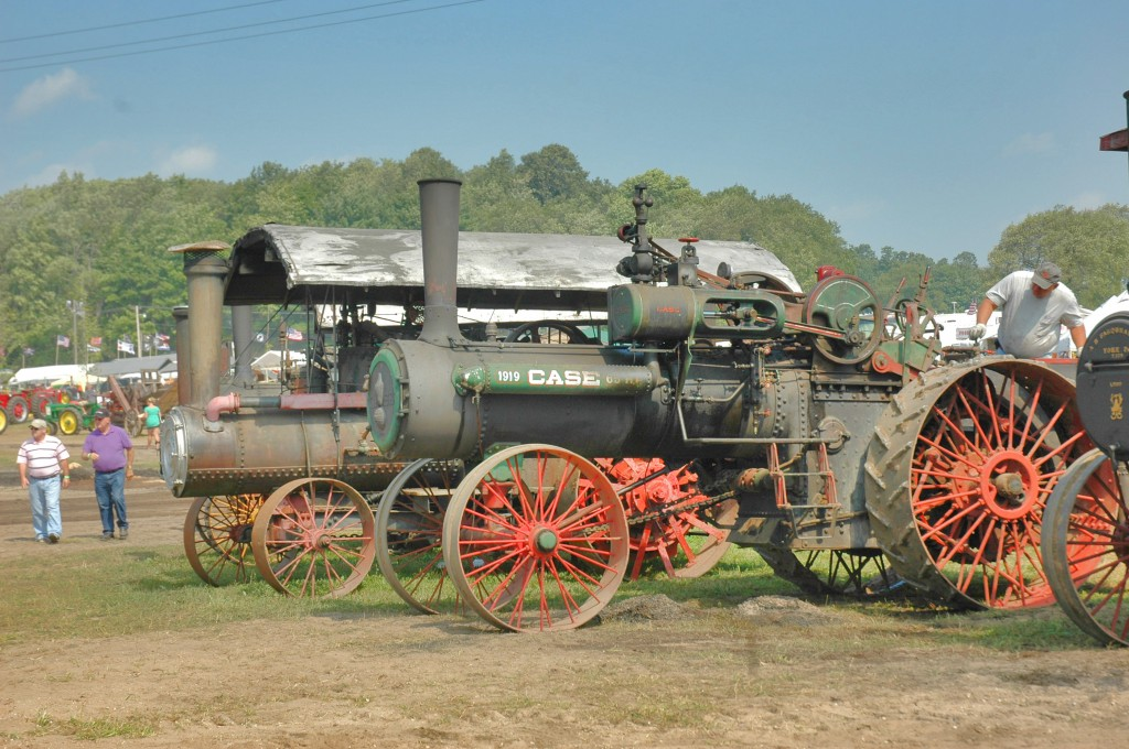 A huge Case steam tractor at the Buckley Old Engine Show...