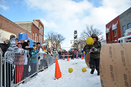 Slip and Fall Olympics Obstacle Course at the Traverse City Winter Comedy Arts Festival