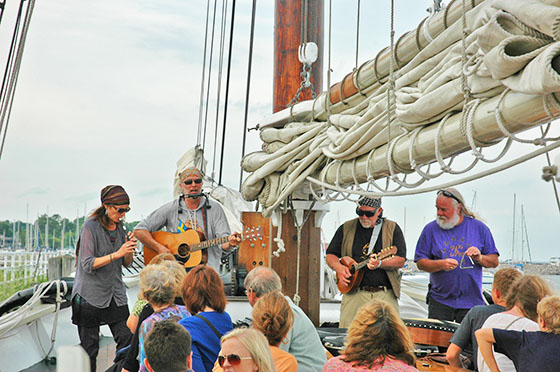 Song of the Lakes perform on Tall Ship Manitou