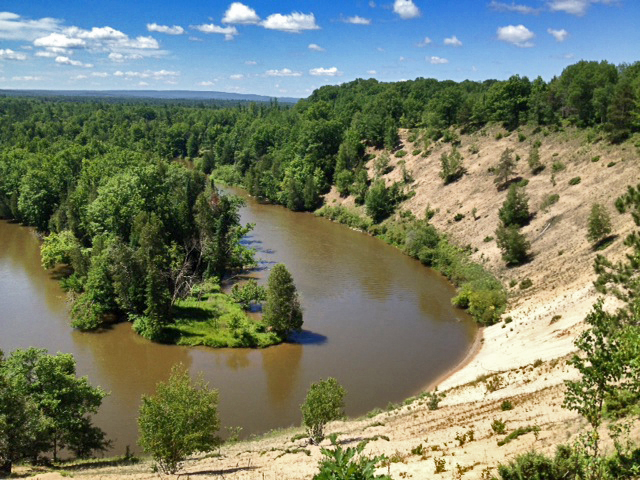 The High Rollways on the Manistee River section of the North Country Trail. (Photo by Jacob Norton)