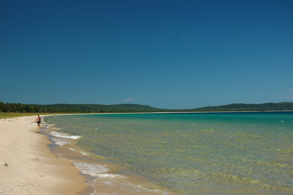 You can still walk a lonely beach at Sleeping Bear -- even in mid-August