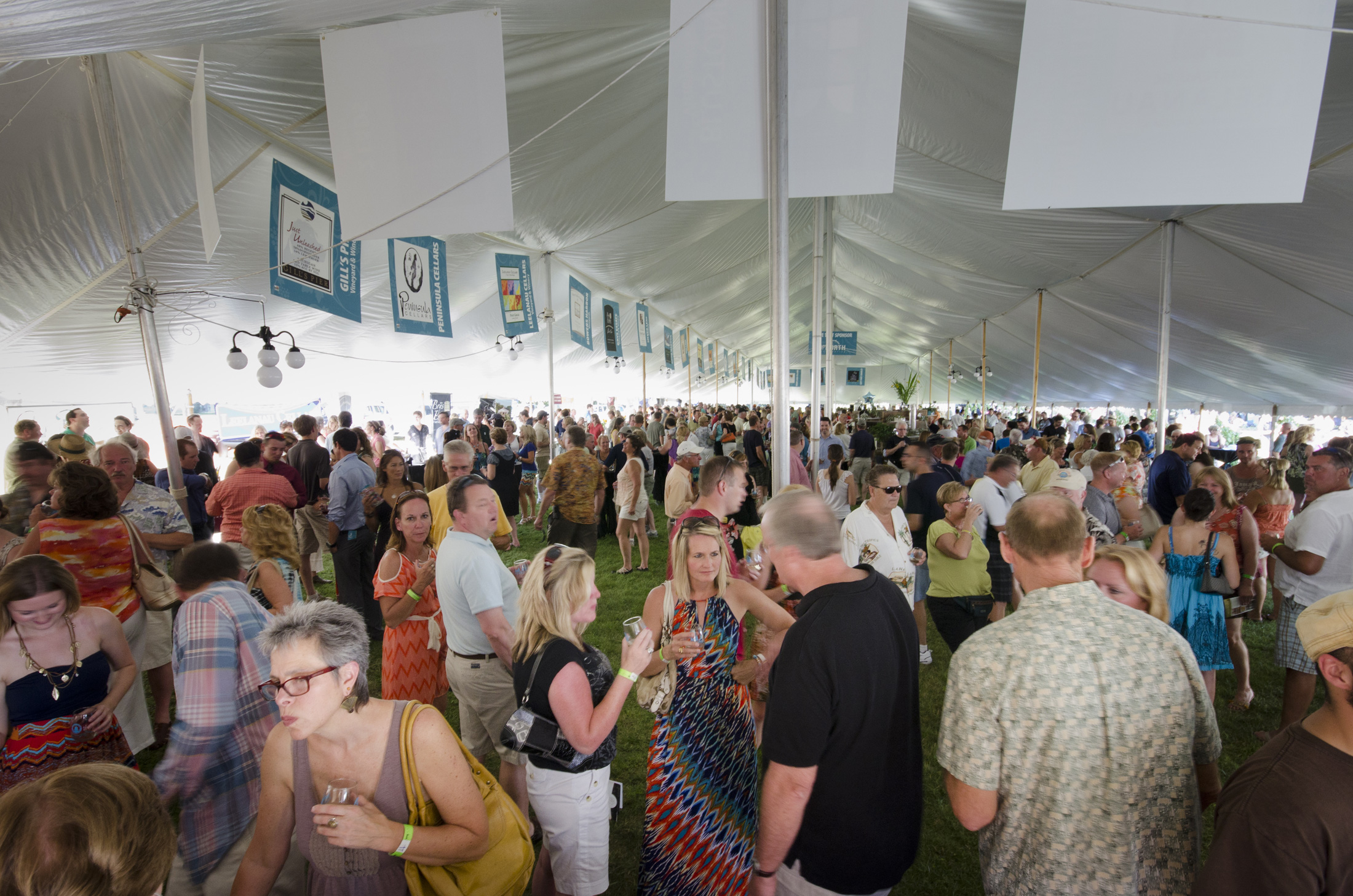 In the Wine Tent at the TC Wine & Arts Festival