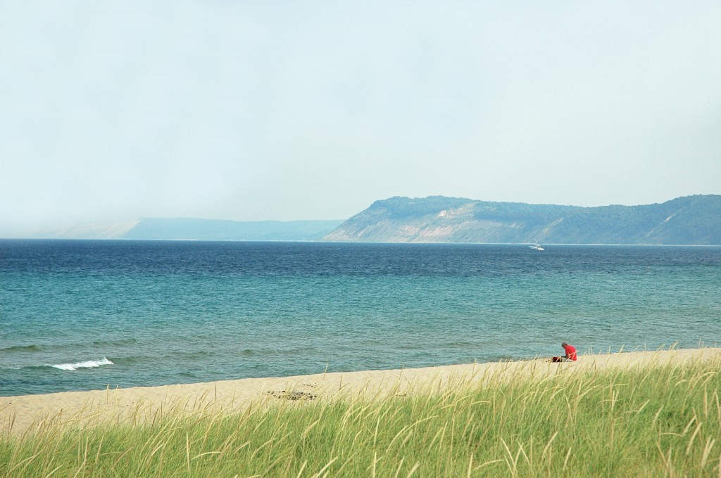 Or you can sit on a lonely beach, in sight of the Dunes.