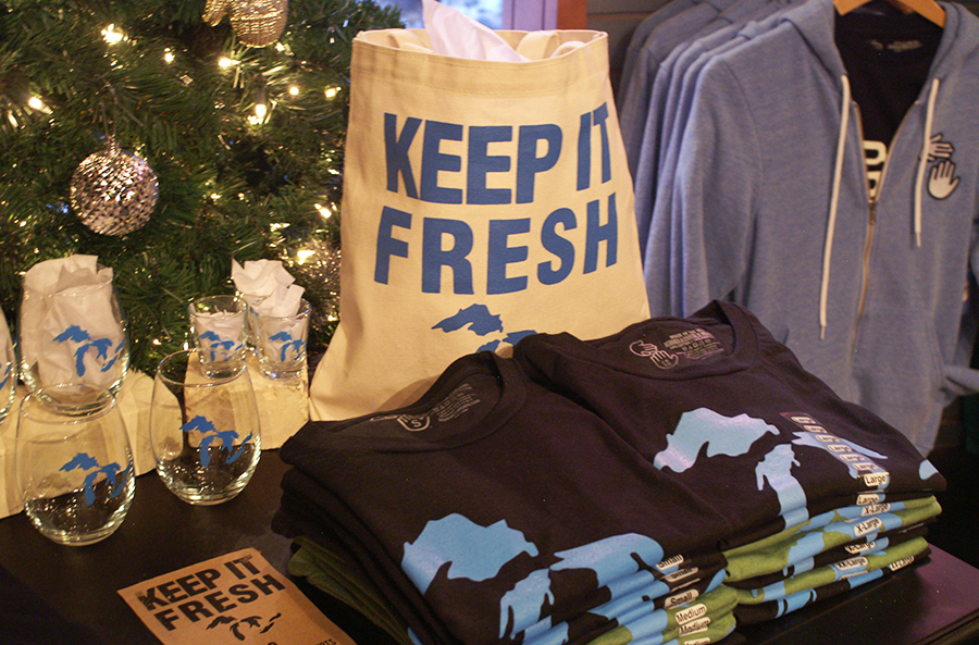 Michigan made apparel at High Five Threads in Traverse City