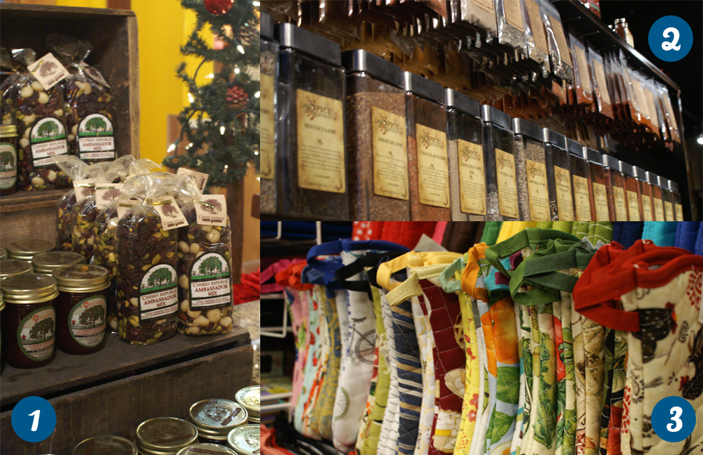 Cherry products, spices and kitchen gadgets in Downtown Traverse City