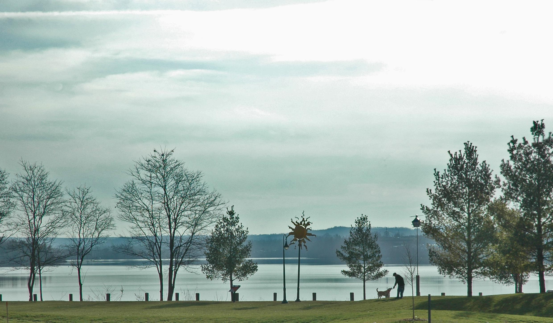 Strangely springlike weekend weather along Boardman Lake.