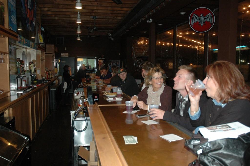 Beer Week pub crawlers at The Yard.