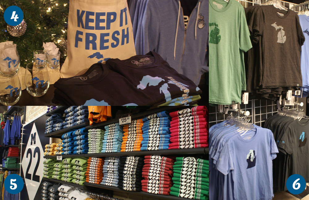Michigan made apparel and gifts in Downtown Traverse City