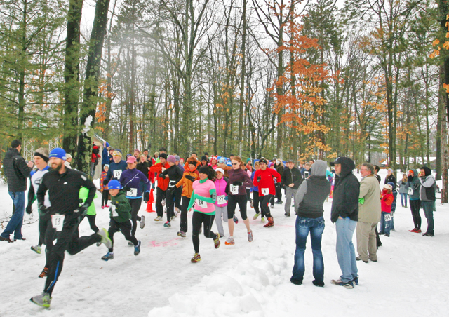 A snowy start to the 2013 Trail Running Festival