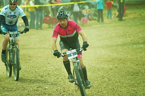Riders compete during the Mud, Sweat and Beers event at Mt. Holiday in Traverse City