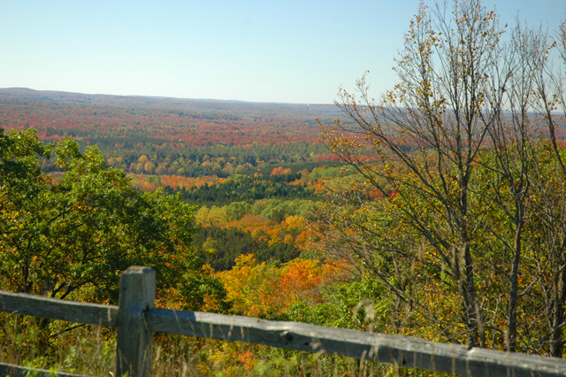 The Cedar River Valley, from the top of Schuss Mountain