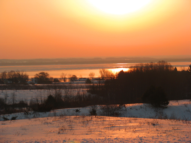 Winter Dawn on Old Mission Peninsula