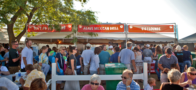 Local restaurants serve up specialties at the festival food court.