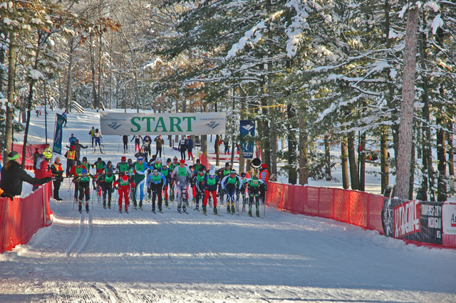 The starting line at the 2013 North American Vasa.