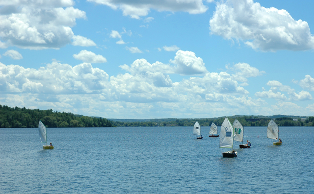 Here in Traverse City, local kids learn to sail on Boardman Lake in small boats called punts.