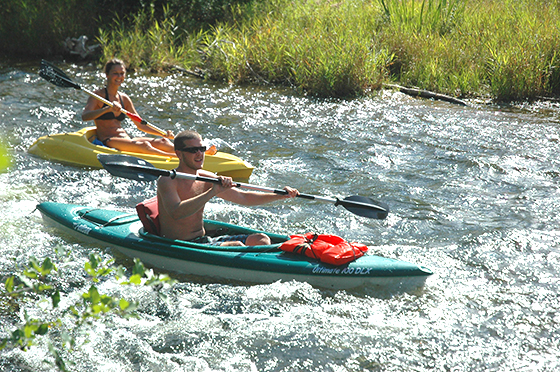 The Traverse City area is home to hundreds of miles of rivers for kayaking.