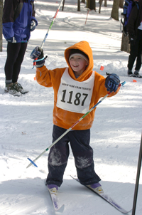 A Young skier at the Vasa.