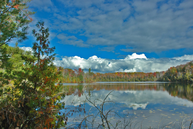 Autumn splendor on Fern Lake at The Timbers Recreation Area.