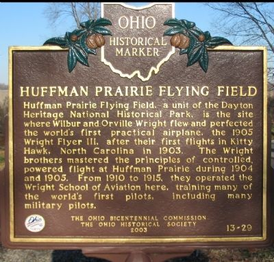 Huffman Prairie Flying Field Marker