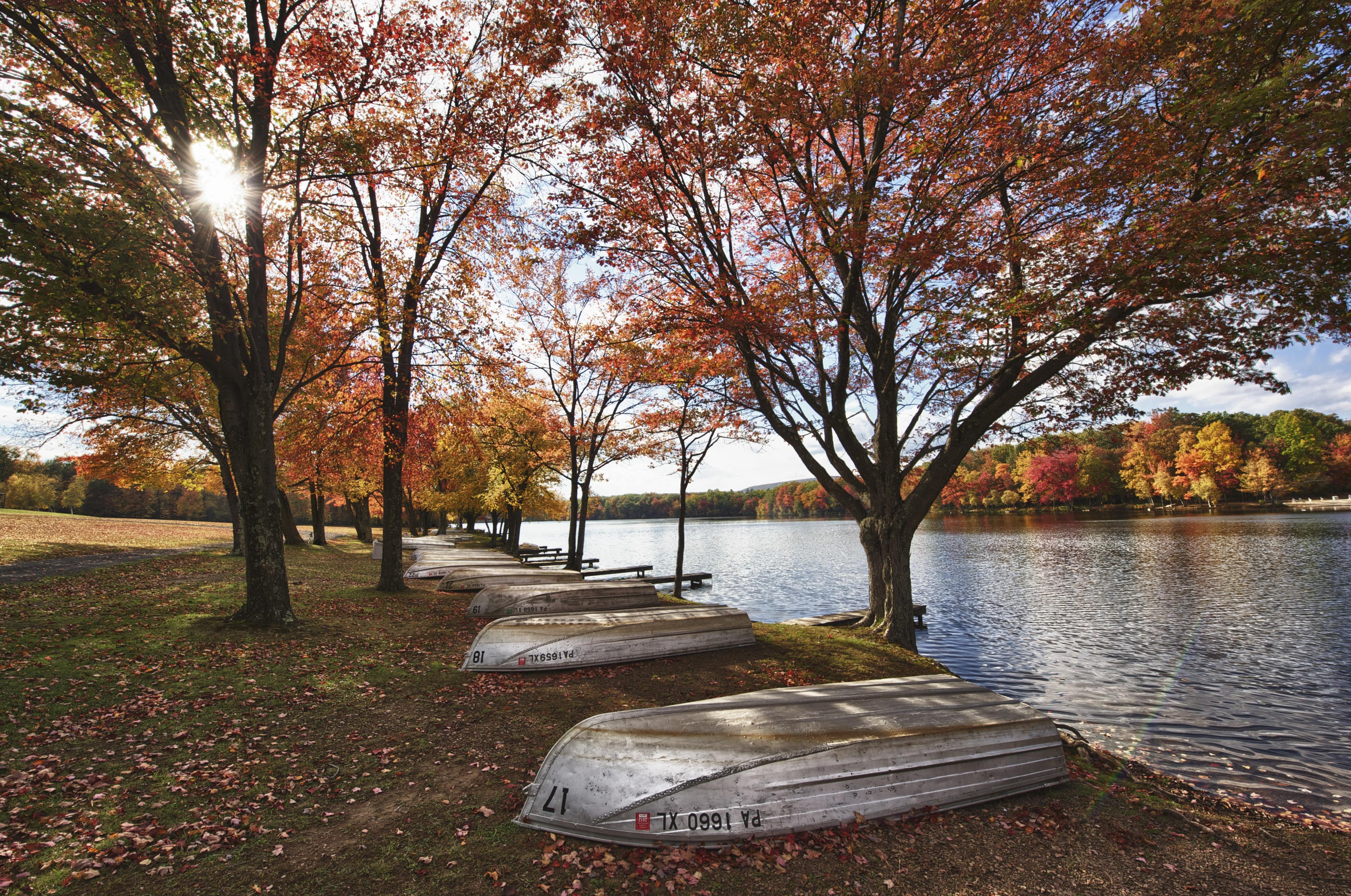 Pocono Vacaciones Montaña - Pennsylvania - Atractivos naturales, hay que ver Excursiones, follaje de otoño