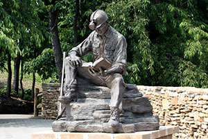 Miner Statue at the Quecreek Mine Rescue Site
