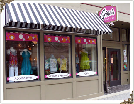 Gina's Boutique store front in Grand Rapids