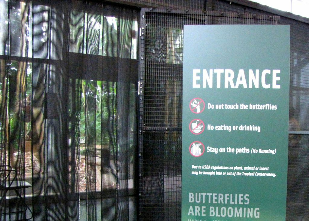 Entrance to the Butterfly Exhbit at Frederik Meijer Gardens