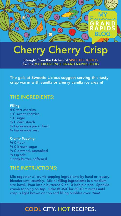 Sweetie-Licious Bakery's Cherry Cherry Crisp receipe