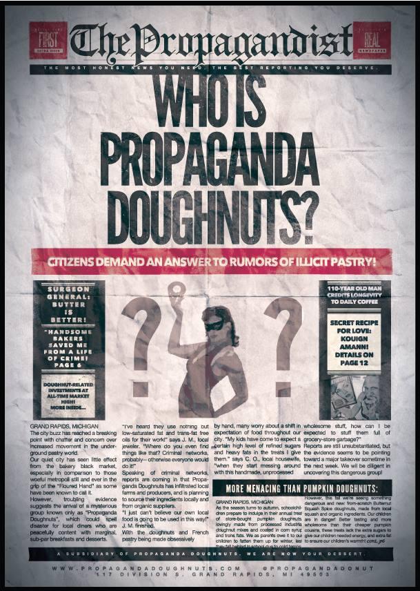 Propaganda Doughnuts newspaper