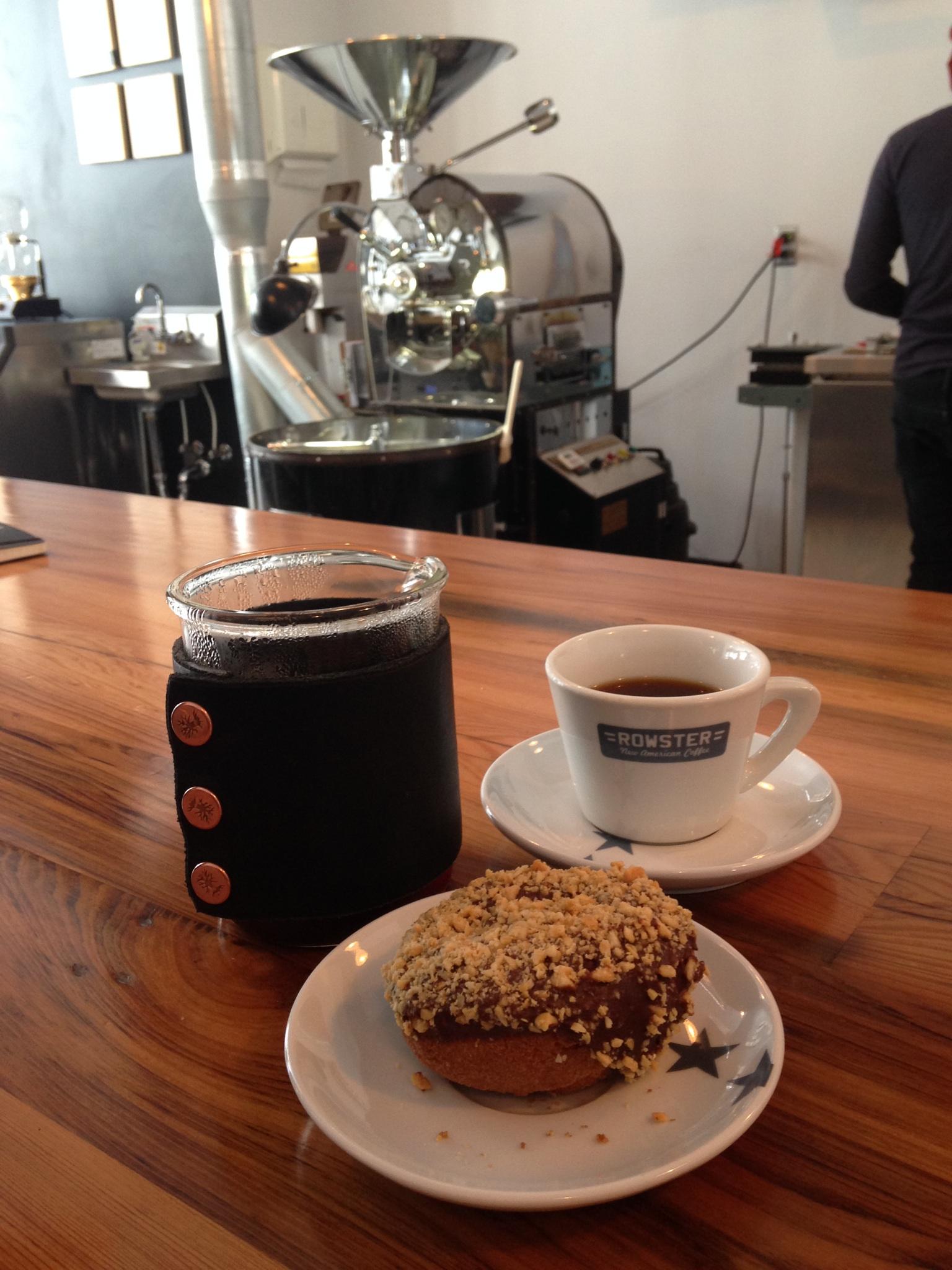 A Propaganda Doughnut at Rowster Coffee.