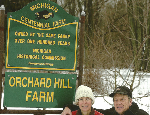 Orchard Hill Farm sign