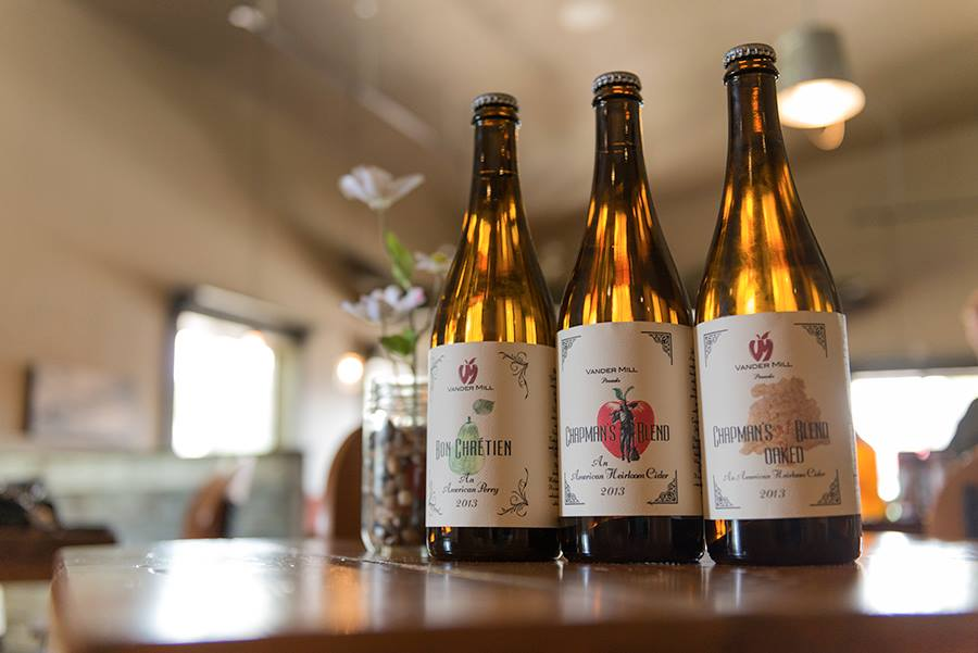 Bottles of Vandermill Chapman's Blend Hard Ciders in Grand Rapids, Michigan