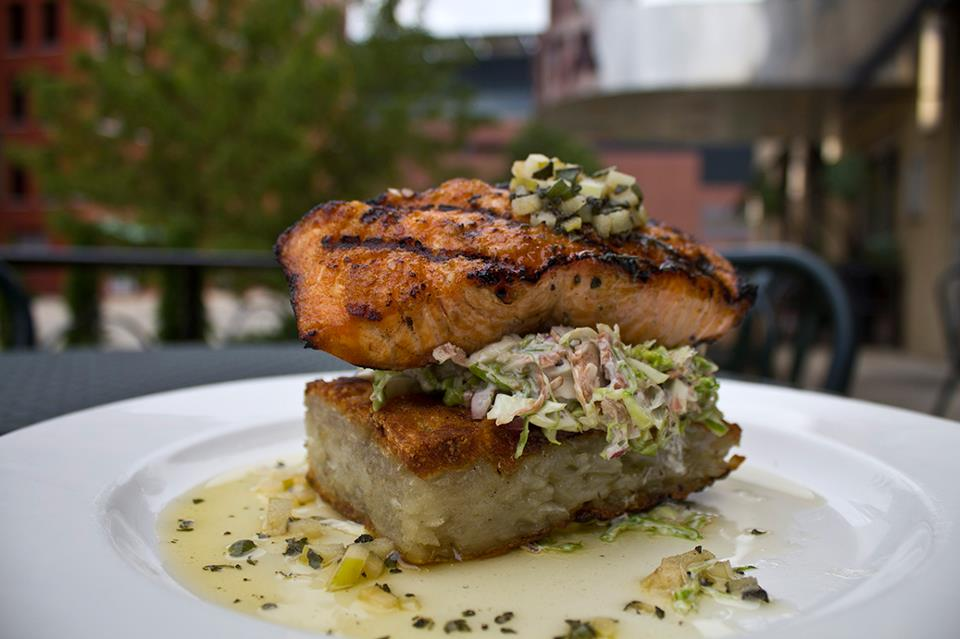 Bistro Bella Vita's Atlantic Salmon, which can be prepared gluten-free