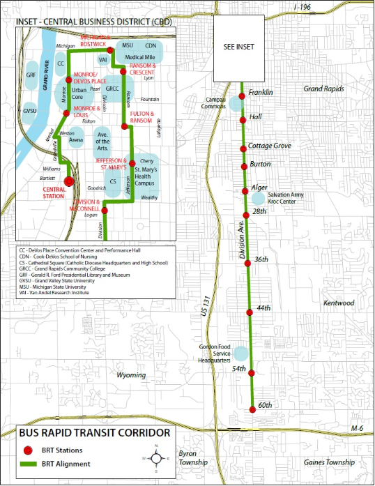 click here to download a pdf version of the Silver Line route map