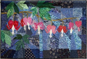 Bleeding Heart quilt by Jan Lewis West Michigan Quilters Guild