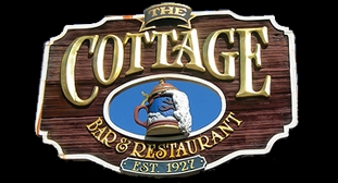 Cottage Bar & Restaurant sign in Grand Rapids, Michigan