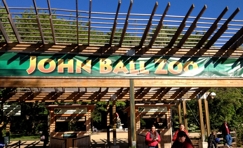 John Ball Zoo entrance in Grand Rapids